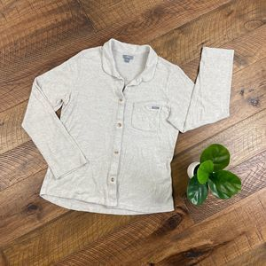 FIGS Scrubs Oatmeal Grey Button-up Cardigan